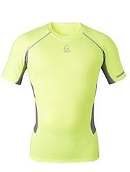 T-shirt -( Vert claire ) de Cyclisme - Respirable/Séchage rapide/mèche/Compression  à Manches courtes Homme Haute élasticité S/M/L/XL