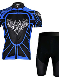 Blue Wolf Riding Short Sleeved Suit, Moisture Cycling Wear, Motor Function Material