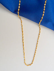 Unisex Gold Filled Wave Link Chain Necklace