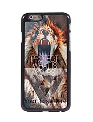 Personalized Gift Lion Protect What is Yours Design Aluminum Hard Case for iPhone 6 Plus