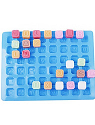 48 Alphabet Shape Silicone Ice Mold Cake Decorating Ice Tray (Random Color)