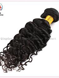 requintado preço de fábrica 5a cor natural do cabelo humano originais profunda encaracolado weave cabelo brasileiro virgem