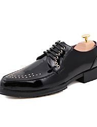 Men's Shoes Wedding/Office & Career/Party & Evening Faux Leather Oxfords Black/Red/White