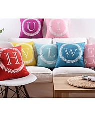 "Soft Fabric English Letters Cushion Cover in 18""x18"" (45x45cm) From Q To Z"
