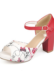 Women's Shoes  Stiletto Heel Peep Toe Sandals Office & Career/Dress Blue/Red/White