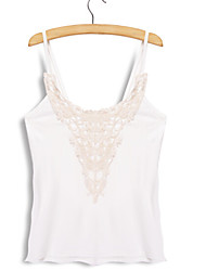 Moon Sunday 2015 SUMMER LADY PLUS SIZE SEXY LACE TANK TOP CAMISOLE LADY CROCHET BLOUSE SHIRT