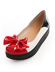 Girls' Shoes Casual Round Toe  Flats Black/Red/White