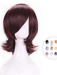 vendita calda nuova parrucca cosplay elegante harajuku anime termoresistente giovani colori brevi parrucca di capelli sintetici