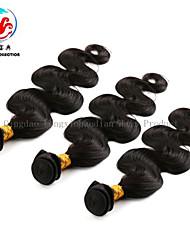 """8 """"-24"""" note 7a vente chaude couleur naturelle vague de corps chinois trame de cheveux de trois pièces"""