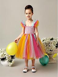 Flower Girl Dress - A-line Longueur mollet Sans manches Tulle