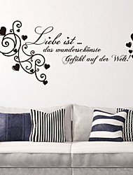 Wall Stickers Wall Decals , Liele German Words & Quotes PVC Wall Stickers
