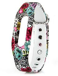 banda TPU substituível para Xiaomi relógio inteligente padrão pulseira de flores