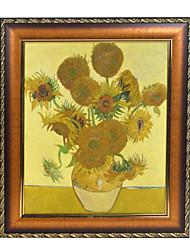 Vaso com quinze girassóis por Vincent van Gogh Impressão em tela emoldurada