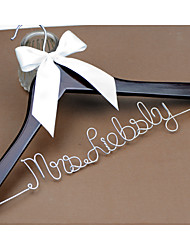 Personalized Wedding Dress Hanger, Custom Bridal Bridesmaid hanger, Wire Name Hanger Font B