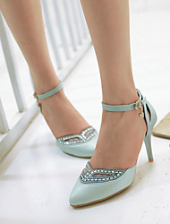 Chaussures Femme Similicuir Talon Aiguille Talons Escarpins / Talons Habillé/Soirée & Evénement Bleu/Rose/Blanc