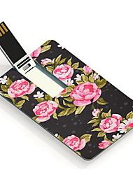 64GB del usb tarjeta de diseño de memoria USB elegante flor