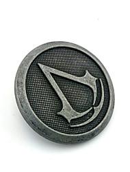 Bijoux Inspiré par Assassin's Creed Connor Anime/Jeux Vidéo Accessoires de Cosplay Badge / Broche Argenté Alliage Masculin
