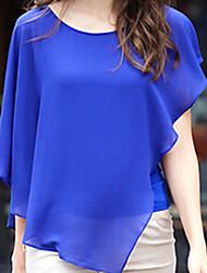 Women's Blue/White/Black/Yellow Blouse Sleeveless
