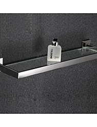Bathroom Mirror Polished Stainless Steel Glass Shelf