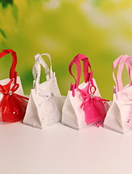 Nonwoven Fabric Wedding Candy Bags Portable Favor Gift Bags Bride Dress Decorative  Set of 12
