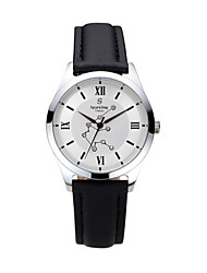 Men's  Water-Resistant  with Man-made Crystal White Dial Leather Band Quartz Analog  Fashion Watch of Aquarius Cool Watches Unique Watches