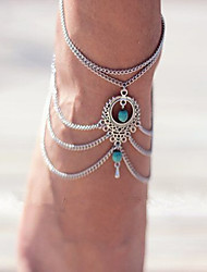 Bohemia Turquoise Drop Anklets Foot Ornaments 1Pc Jewelry