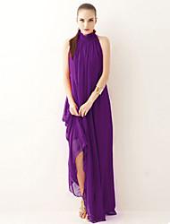Women's Stand Dresses , Chiffon Party Sleeveless SASA
