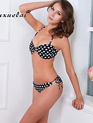 OUXL®Women's Wireless/Padded Bras Color Block/Floral/Animal/Dot/Bandage/Geometric Bandeau Bikinis