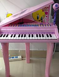 crianças de piano