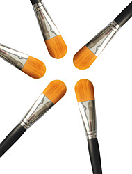 M0248 1PCS Professional Bright Silver Tube Yellow Hair Foundation Brush
