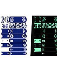 16PCS 3D Nail Art Stickers Series Noctilucent Stars modèle
