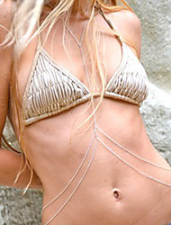 Women's Fashion Crossover Beach Bikini Double Body Chain