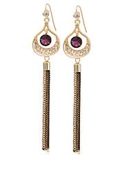 Women's  Fashion Elegant Tassel Long Stud Earrings HJ0053