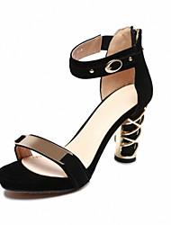 Zapatos de mujer Ante N/A Plataforma/Innovador/Gladiador Sandalias Vestido/Casual/Fiesta y Noche Negro