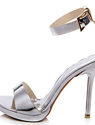 Women's Sandals Heels/ Styles Leather Wedding / Party & Evening / Dress Stiletto Heel Others Silver