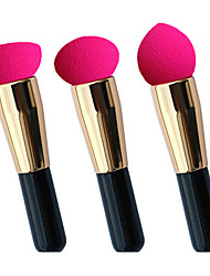 New Style Non-latex Sponge Powder Puff & Cosmetic Brush One Set of Three Different Models  35mm