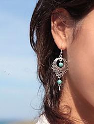 Women's Fashion Vintage National Wind Alloy Resin Drop Earrings