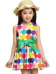 Children Kids Girls Baby Korean Dot Sleeveless Summer Dress Clothes