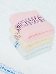Three Pack Towel With Yellow/Pink/Blue Cotton 34*76
