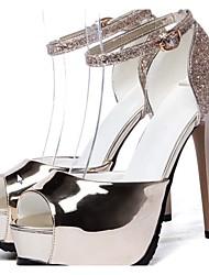 Women's Shoes Stiletto Heel Heels/Peep Toe Sandals Party & Evening Silver/Gold