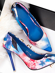 Women's Shoes Blue/Pink Stiletto Heel 3in-3 3/4in Pumps/Heels (Satin)