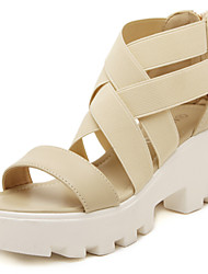 Women's Shoes Wedge Heel Wedges Sandals Casual Black/White