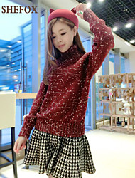 Women's Casual Stretchy Thick Long Sleeve Pullover (Knitwear) SF7A14