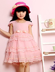 Girl's Cotton Blend/Lace Dress , Summer/Spring/Fall Sleeveless
