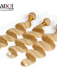 top 7a bleekmiddel blonde 613 maagd haarverlenging Peruaanse vingin haar body wave Peruaanse menselijk haar weave bundels haar