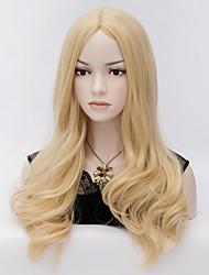 blonds perruques cosplay harajuku vague de chaleur résistant perruque de cheveux synthétiques