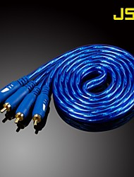 JSJ® 5M 16.4FT 2xRCA Male to Male AV Cable - Crystal Blue