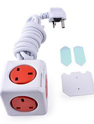 Allocacoc 7300 / cube ukexpc UK Plug prise prolongée de 5-sortie - rouge (300cm)