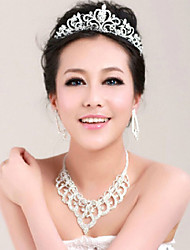 Crystal Crown Tiara Hair Flower Bride Hair Wedding Headdress Wedding Accessories One Piece