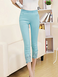 Women's Blue/Pink/White/Black/Yellow Skinny Pants , Casual